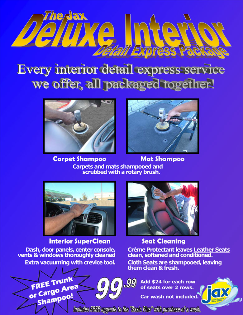 Interior Auto Detailing - The Jax Complete Package