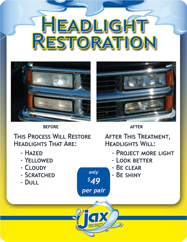 Headlight Restoration at Jax Kar Wash & Express Auto Detailing